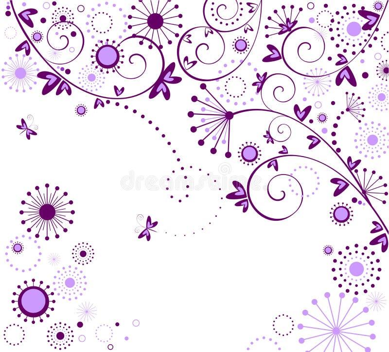 Accogliere carta d'annata floreale illustrazione vettoriale