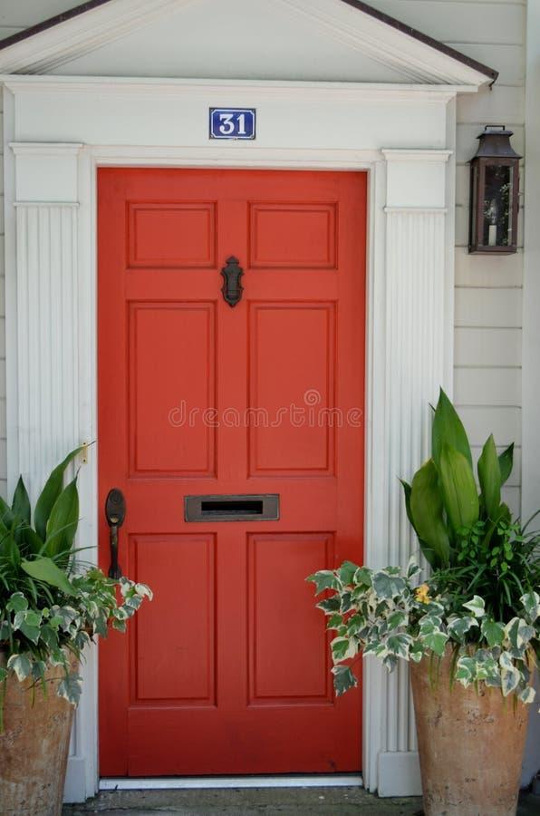 Accogliere favorevolmente Front Door immagini stock libere da diritti