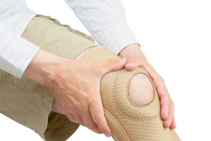 Accolade de genou du néoprène. image libre de droits