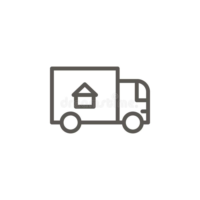Accommodation, moving, relocation vector icon. Simple element illustration from UI concept. Accommodation, moving, relocation. Vector icon. Real estate concept vector illustration