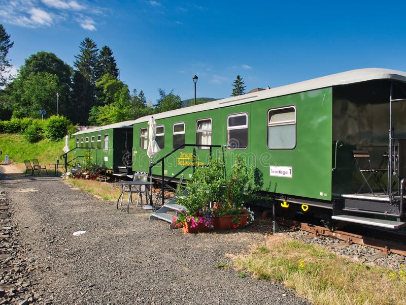 Accomodation in Wagons Oybin in Germany stock image