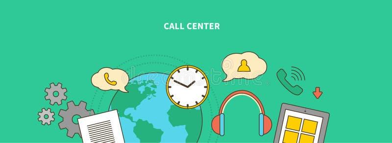 Accompagnement du produit sur le marché Centre d'attention téléphonique illustration libre de droits