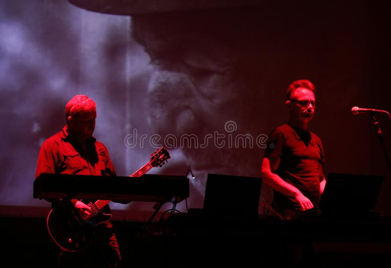 Accomplice Affair live at International Multimedia Presentation - Ambient Festival . Gorlice. Poland. Gorlice, Poland - July 14 2017: Accomplice Affair live at royalty free stock image