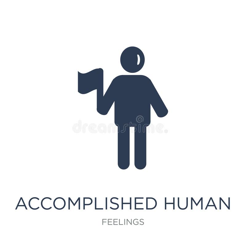 accomplished human icon. Trendy flat vector accomplished human i stock illustration
