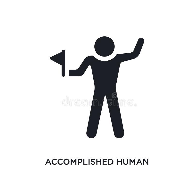 accomplished human isolated icon. simple element illustration from feelings concept icons. accomplished human editable logo sign stock illustration