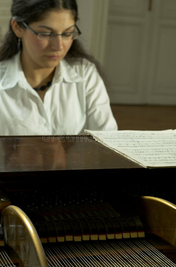 Download Accomplished Pianist At The Piano-2 Stock Image - Image: 1721949