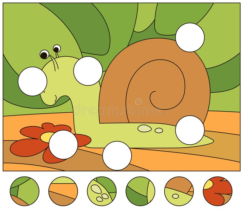 accomplissez le puzzle et trouvez les parties absentes de la photo illustration libre de droits
