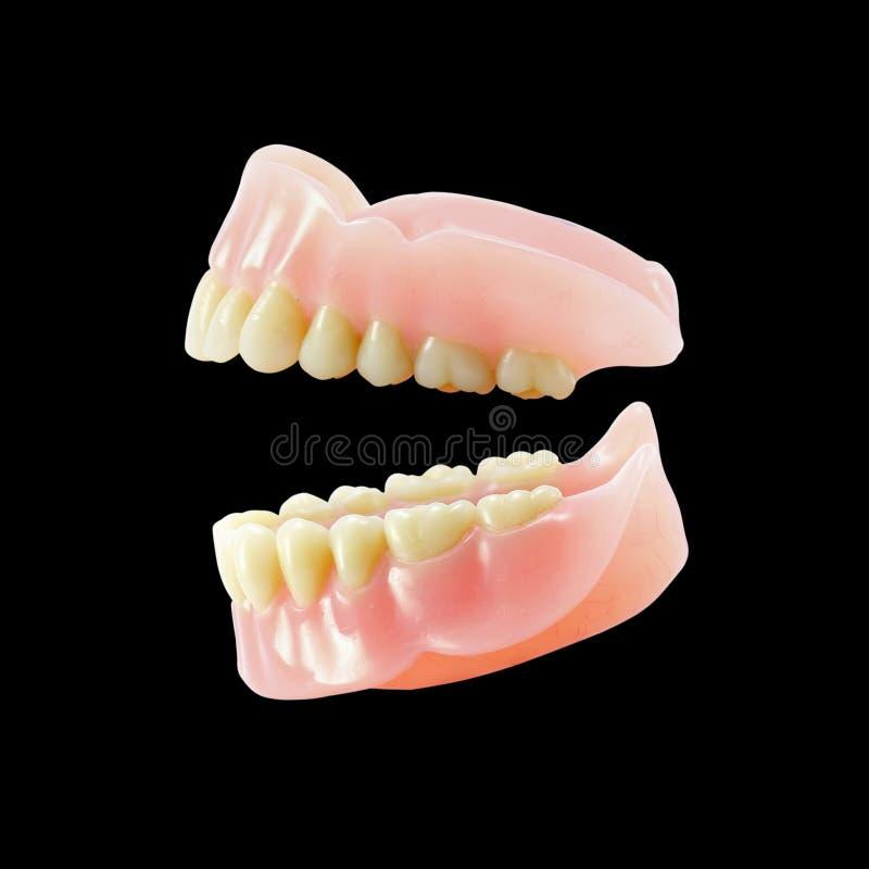 Accomplissez les dentiers photo libre de droits