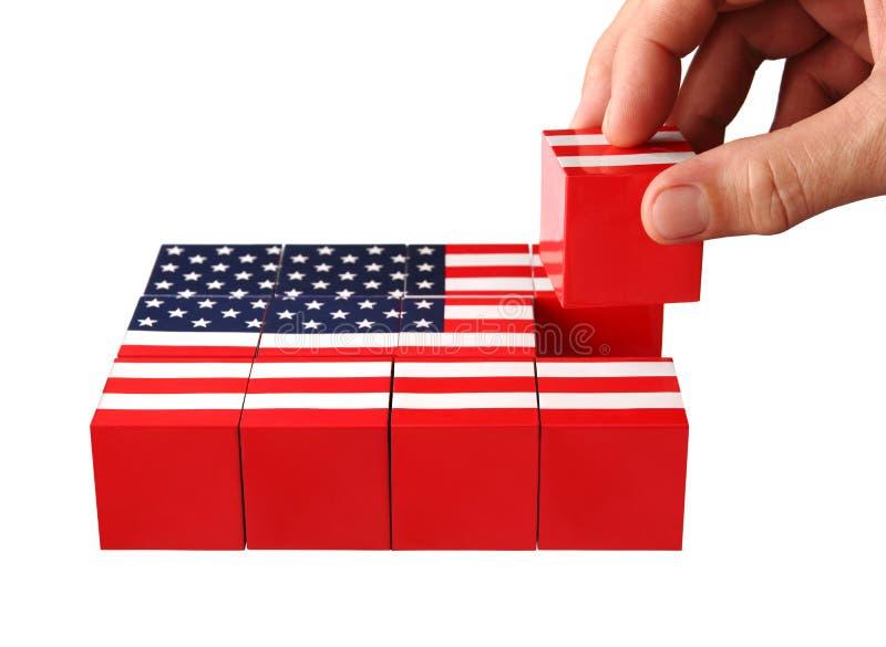 Accomplissez les Etats-Unis denteux image libre de droits