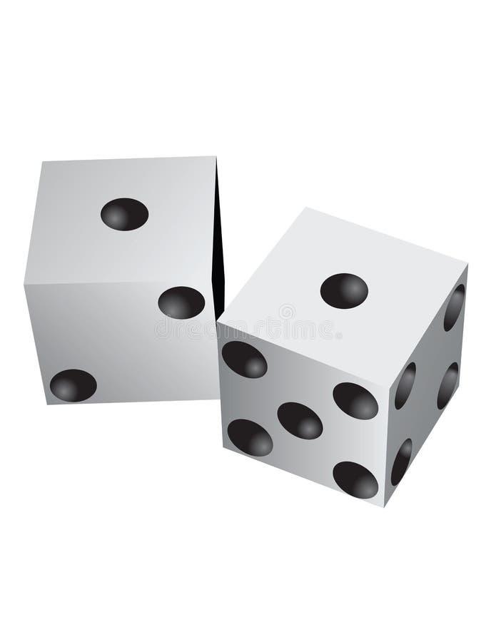 Accoppiamenti dei dadi illustrazione di stock