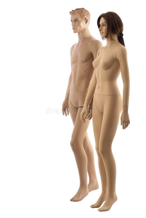Accoppiamenti dei mannequins   Isolato immagine stock libera da diritti