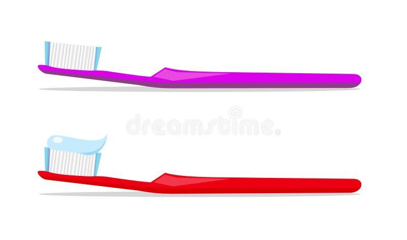 Accoppiamenti dei toothbrushes royalty illustrazione gratis