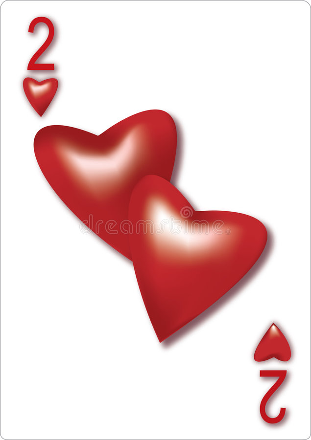 Accoppiamenti della scheda del biglietto di S. Valentino illustrazione di stock