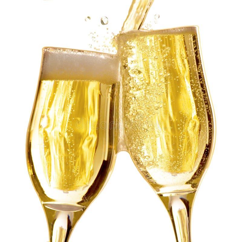 Accoppiamenti delle scanalature di champagne immagini stock
