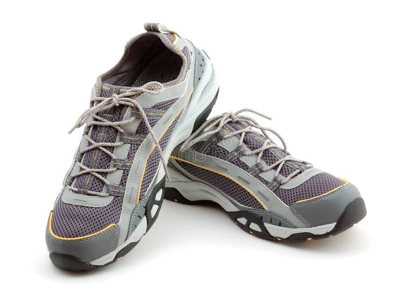 Accoppiamenti delle scarpe da tennis fotografie stock