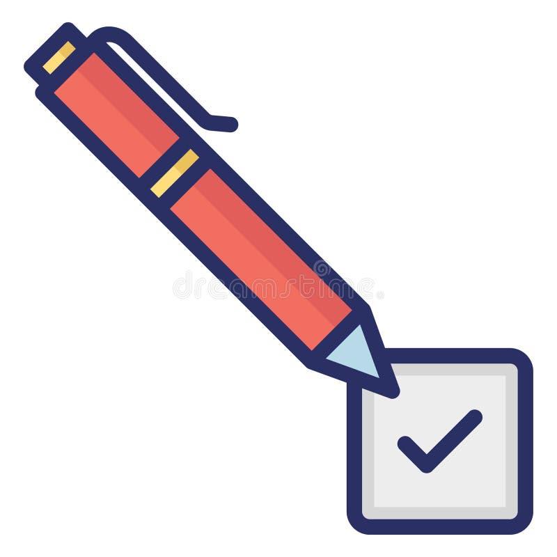 Accord, autographe Icône vectorielle isolée pouvant être facilement modifié ou modifié illustration stock