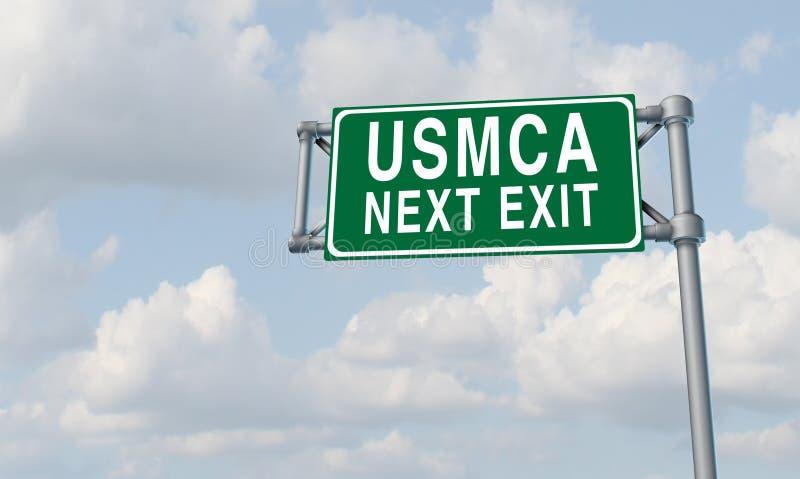 Accord commercial d'USMCA Amérique du Nord illustration libre de droits
