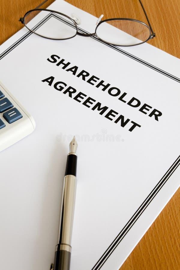 Accord d'actionnaire image libre de droits