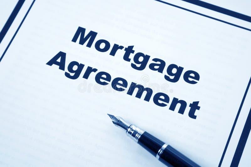 Accord d'hypothèque images stock