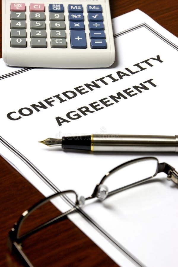 Accord de confidentialité images libres de droits