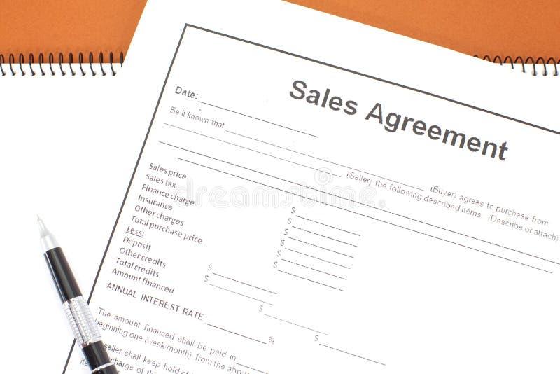 Download Accord de ventes image stock. Image du document, vente - 87701961