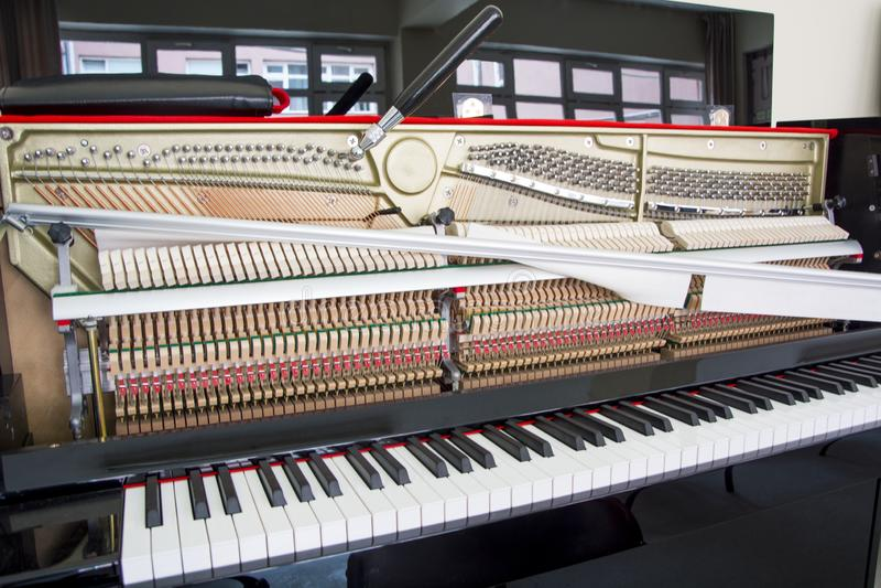 Accord de votre piano photographie stock