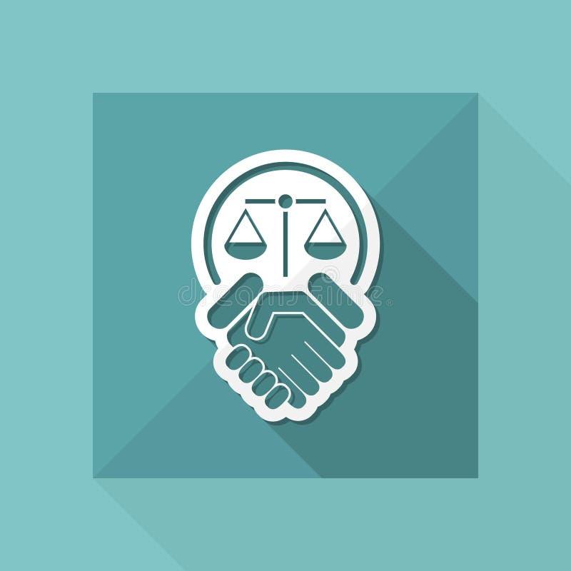 Accord permissible illustration libre de droits