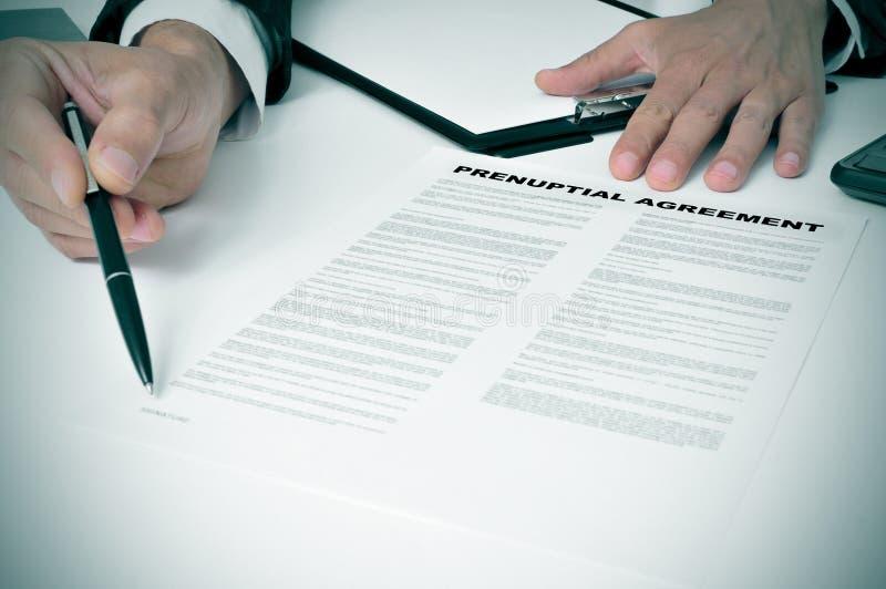Accord Prenuptial image libre de droits