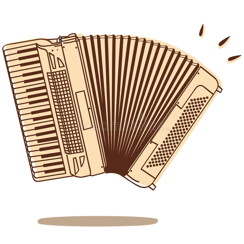 Accordion vector. Illustrations of an accordion isolated on white background + vector eps file vector illustration