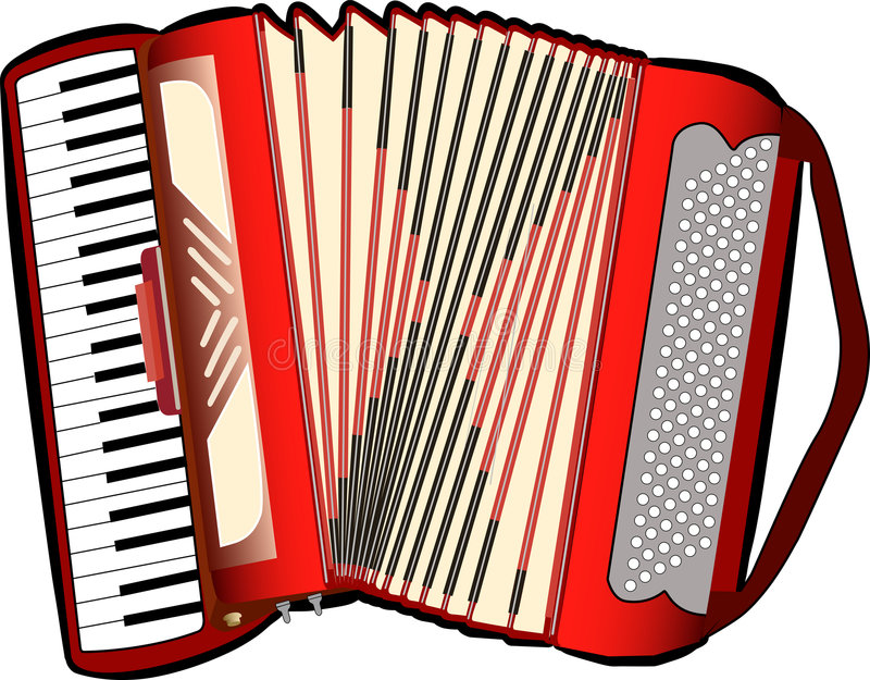 Accordion. A digital illustration of an accordion vector illustration