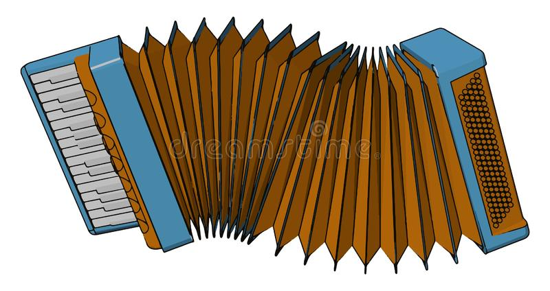 Accordion a musical instrument vector or color illustration. Accordion is family of box shaped musical instrument of the below derived free reed arrow phone type royalty free illustration