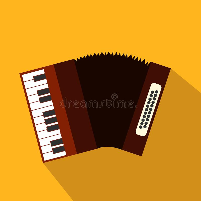Accordion flat icon. For web and mobile devices vector illustration