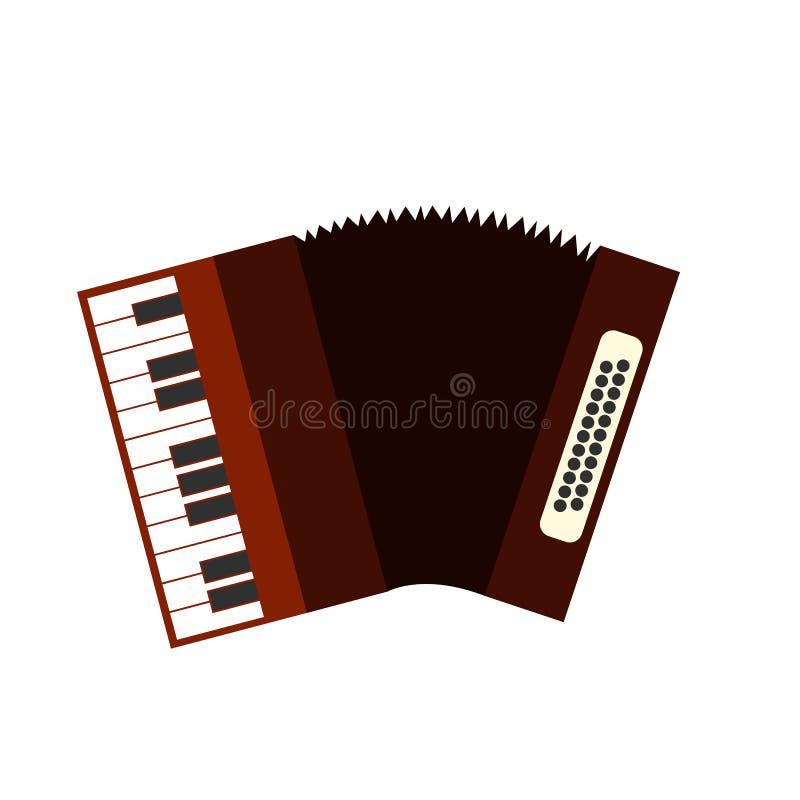 Accordion flat icon. Isolated on white background vector illustration