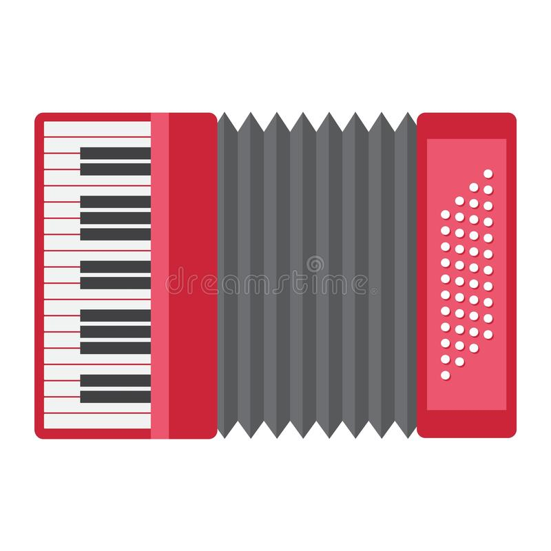Accordion flat icon, music and instrument. Sound sign vector graphics, a colorful solid pattern on a white background, eps stock illustration