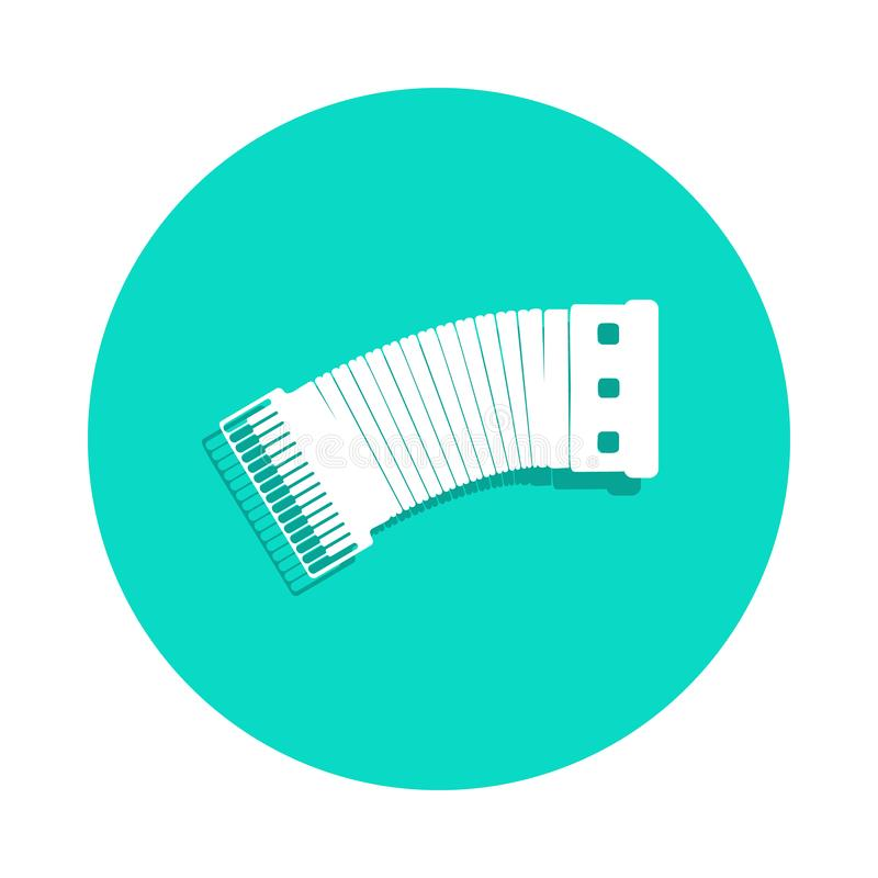Accordion icon in badge style. One of Music Instruments collection icon can be used for UI, UX. On white background royalty free illustration