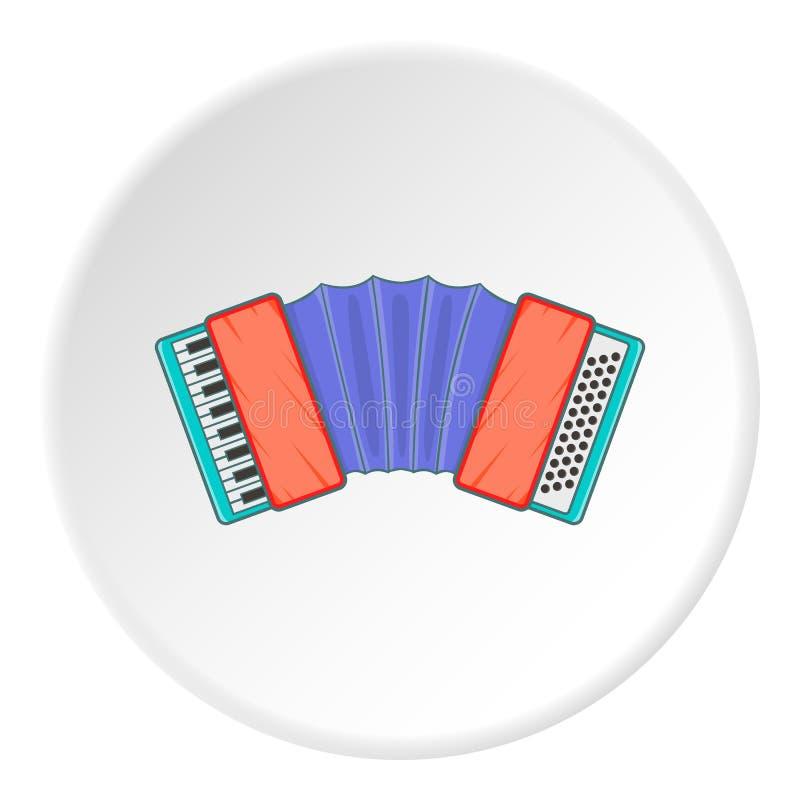 Accordion icon, cartoon style. Accordion icon. Cartoon illustration of accordion icon for web royalty free illustration