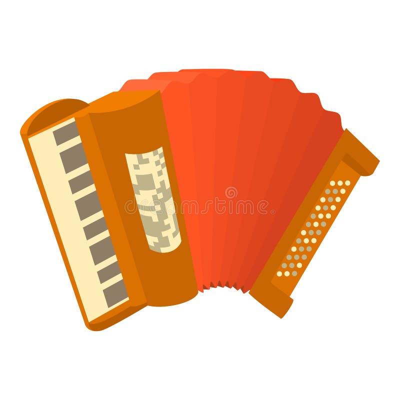 Accordion icon, cartoon style. Accordion icon. Cartoon illustration of accordion icon for web stock illustration