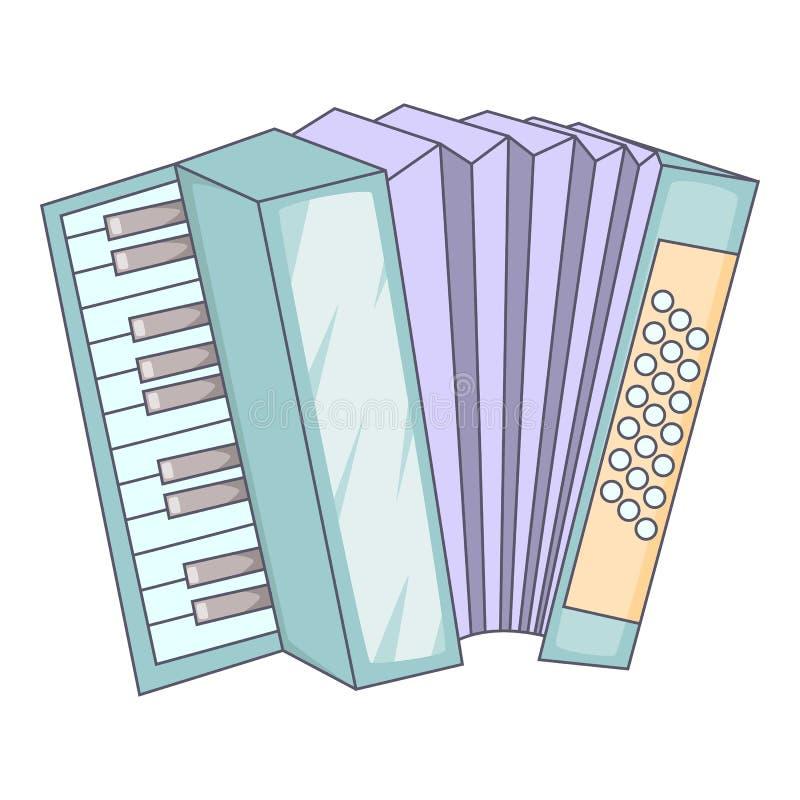 Accordion icon, cartoon style. Accordion icon. Cartoon illustration of accordion icon for web design royalty free illustration