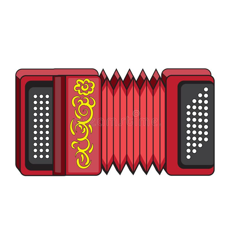 Accordion icon in cartoon style isolated on background for any web design . Vector image. Eps 10 royalty free illustration