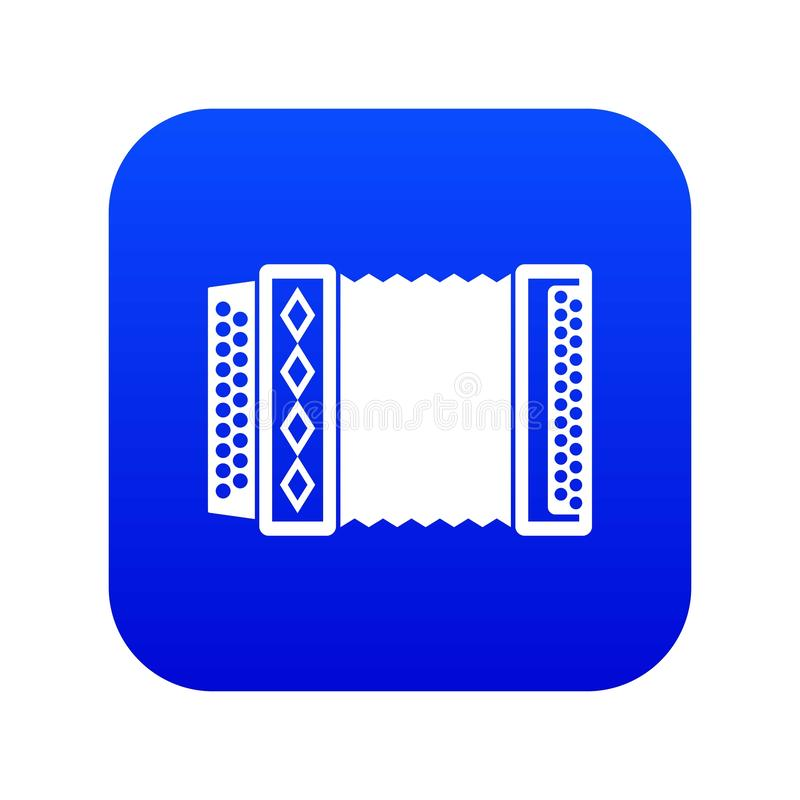 Accordion icon digital blue. For any design isolated on white vector illustration stock illustration