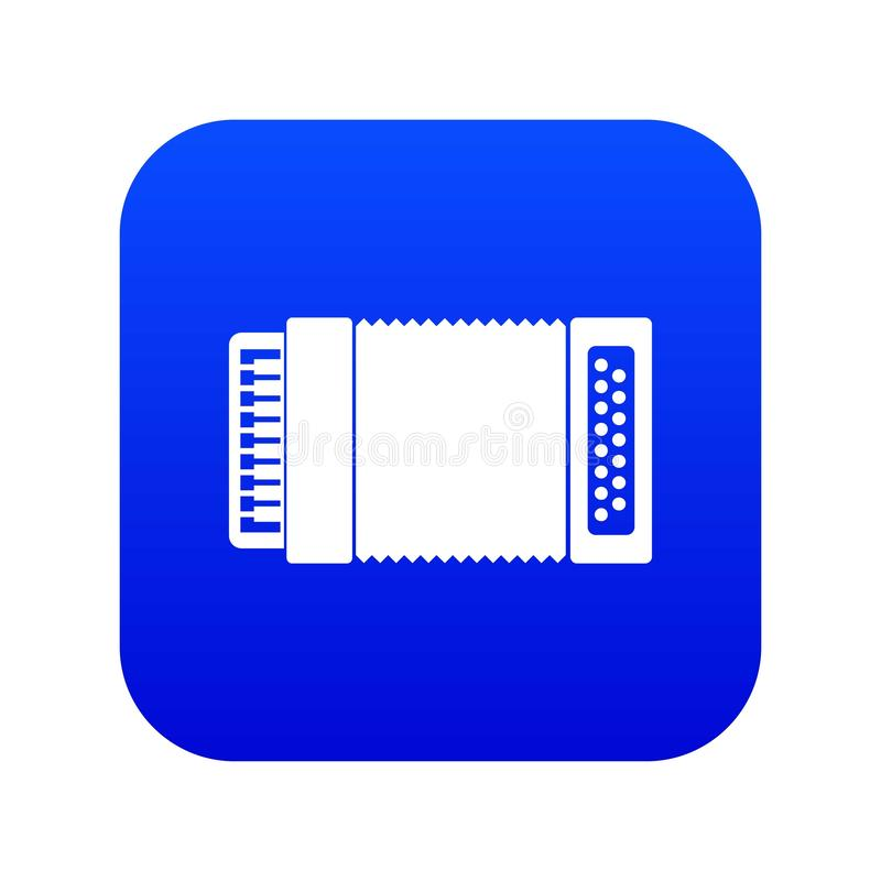 Accordion icon digital blue. For any design isolated on white vector illustration royalty free illustration