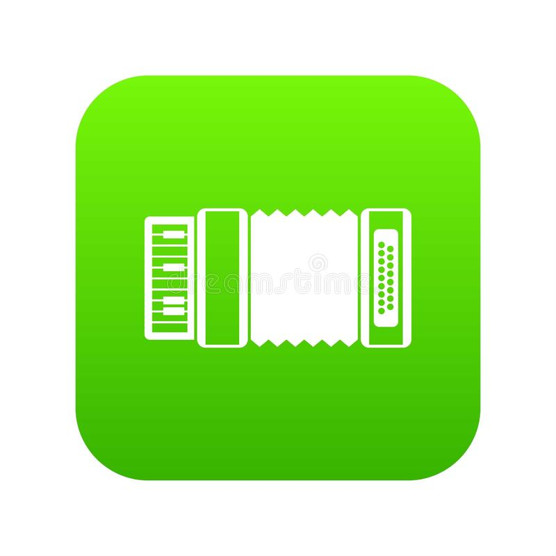 Accordion icon digital green. For any design isolated on white vector illustration royalty free illustration