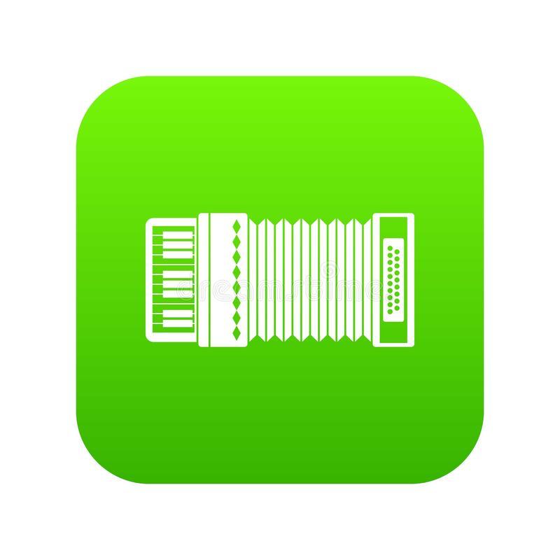 Accordion icon digital green. For any design isolated on white vector illustration vector illustration