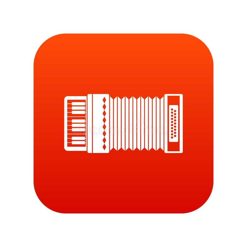 Accordion icon digital red. For any design isolated on white vector illustration royalty free illustration