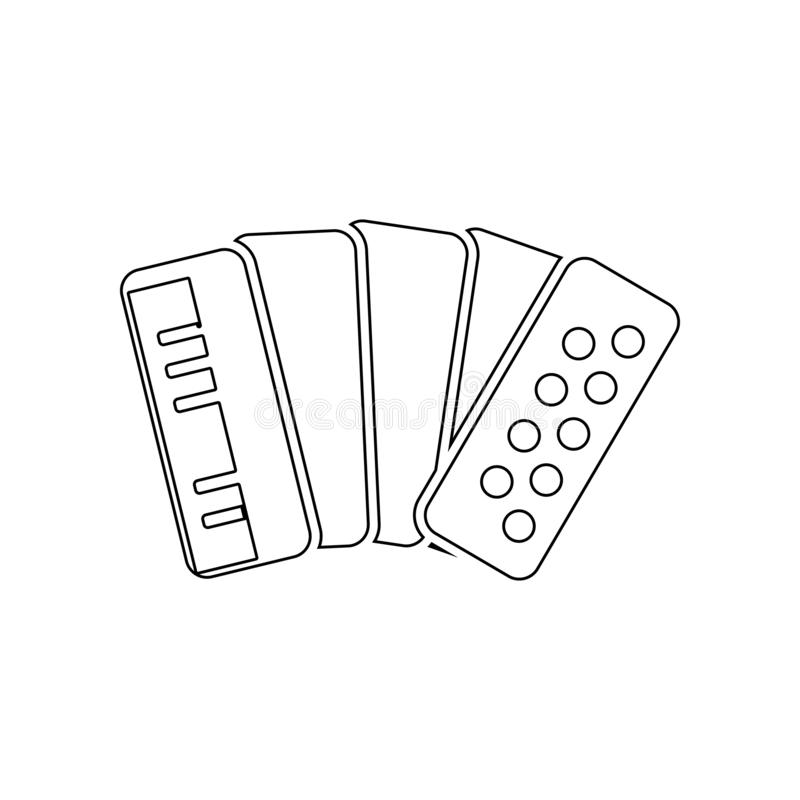 Accordion icon. Element of Russia for mobile concept and web apps icon. Outline, thin line icon for website design and development. App development on white royalty free illustration