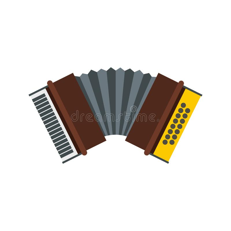 Accordion icon in flat style. On a white background illustration royalty free illustration
