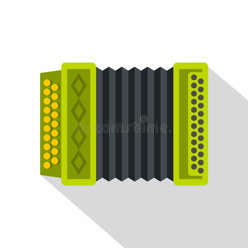 Accordion icon, flat style. Accordion icon. Flat illustration of accordion vector icon for web isolated on white background stock illustration