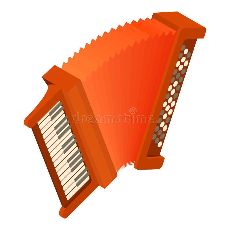 Accordion icon, isometric style. Accordion icon. Isometric illustration of accordion vector icon for web vector illustration