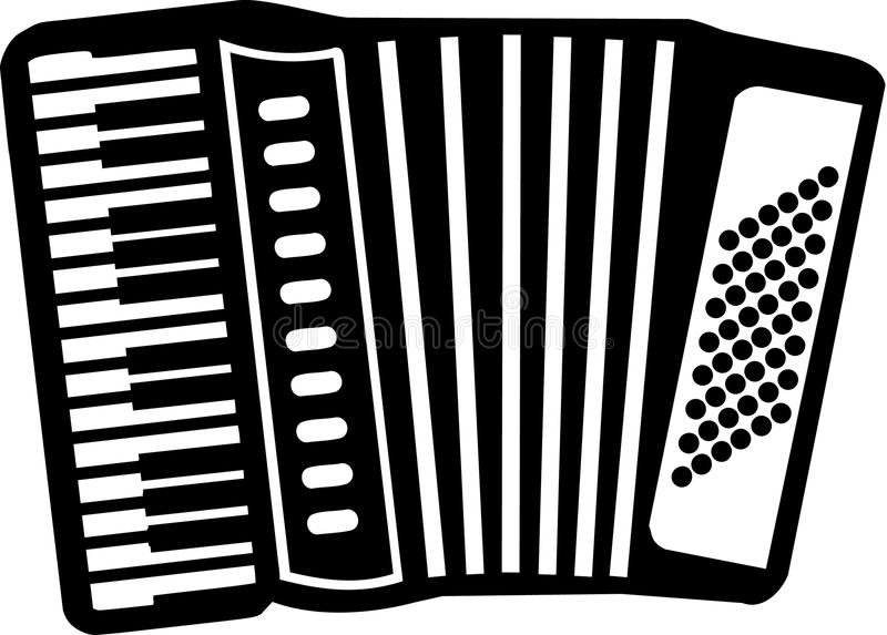 Accordion. Icon with many details stock illustration