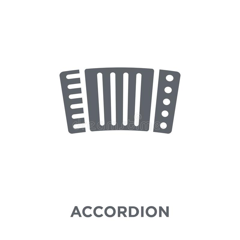 Accordion icon from Music collection. Accordion icon. Accordion design concept from Music collection. Simple element vector illustration on white background vector illustration